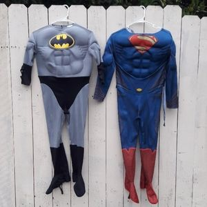 Batman and Superman Costumes Boy's Medium